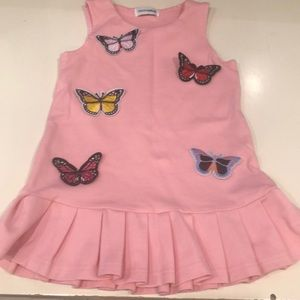 Kids D&G butterfly pleated dress